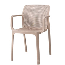 Wholesale cheap creative high quality plastic hollow armrest dining chair