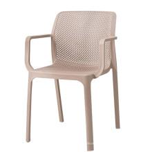 Atacado barato criativo alta qualidade oco de plástico cadeira de jantar oco