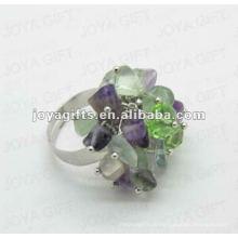 Оберните кольца с помощью флюоритового чип-камня