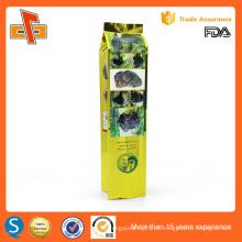 OEM laminado Embalaje de plástico biodegradable gusset lado vacío té bolsa
