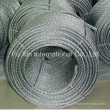 7 x 19 galvanizado corda de fio de aço