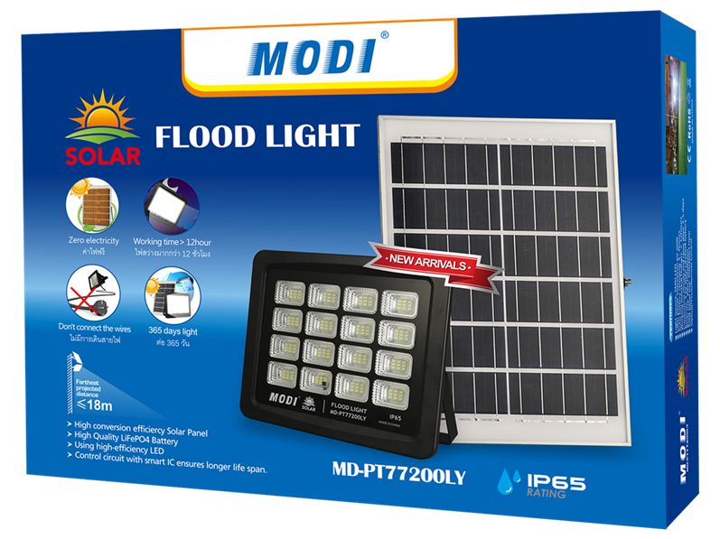 Solar Powered Street Flood Light
