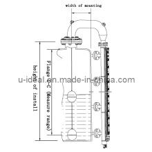 Medição do nível do flutuador do sensor de nível magnético - Transmissores de nível magnetostrictivo - Montagem superior