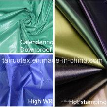 100% nylon tissu avec PU enduit pour le tissu de downjacket