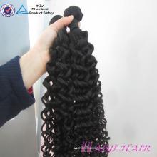 Persönlicher Aufkleber entwarf ursprüngliches neues Haar-Art-lockiges Haar-Verwicklungs-freies doppeltes gezeichnetes