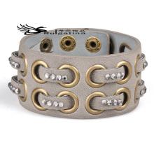 Bracelets en cuir de manchette pour hommes, Bracelets de manchette de mode 2014 Nouveaux articles de cadeaux faits à la main pour époux
