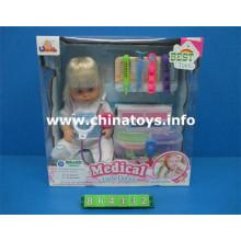 """Boneca de bebê macia de 16 """"com conjunto de médico e música (864432)"""
