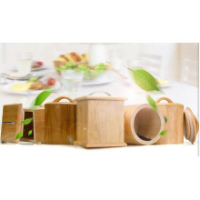 Caja de madera de caucho para sellos cuadrados Caddy Stoarge Box