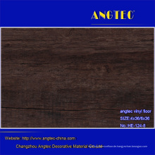 Heiße Verkäufe Luxuxvinylbodenbelag / Plastik PVC-Bodenbelag / Vinylboden-Planken mit Fiberglas / Handels Vinylfliesen-Böden