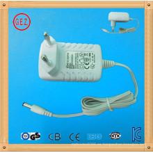 Enchufe de la UE 12 voltios 8 amperios CA ac adaptador de corriente