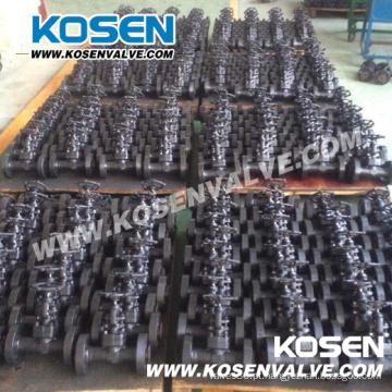 Válvulas de globo de aço forjado flangeadas integrais A105 (J41H)