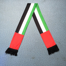 Soft Knitted polyester Transfer Printing UAE FLag National Day Celebrate Scarf