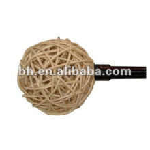 Hot Sell Beautiful Rattan Curtain Finial, Raw Rattan Pole