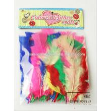Pluma hecha a mano de DIY, pluma coloreada decorativa, plumas decorativas para los sombreros