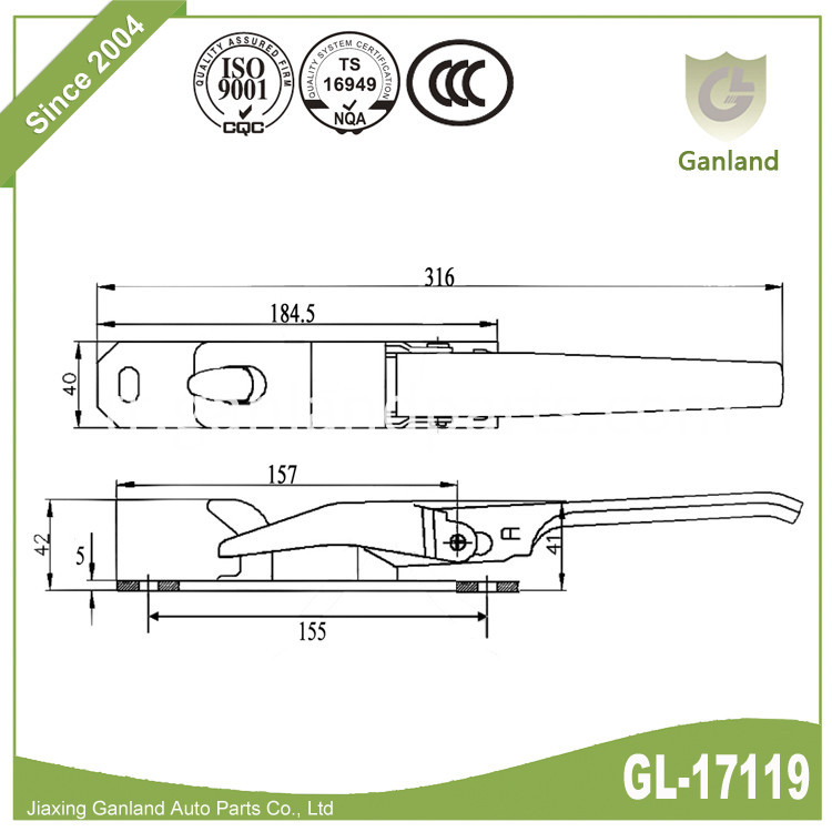 sping over center fastener GL-17119