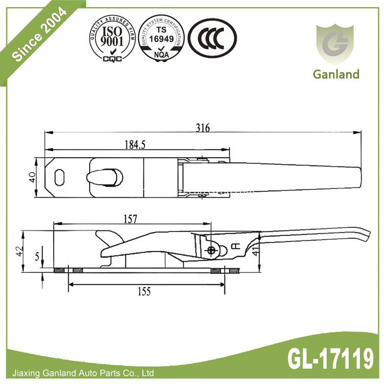 sping over center fastener GL-17119