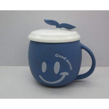 Ceramic Matt Glaze Mug with Lid