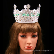 Clear Stone Tiara Big Rhinestone Full Crown For Wedding