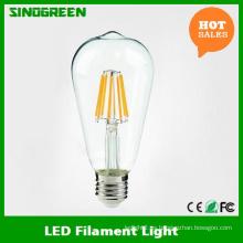 Nuevo 85-265V 6W LED filamento St64 LED