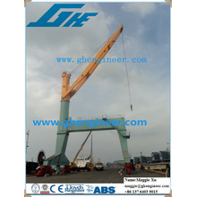 hydraulic fixed mobile traveling container cargo crane