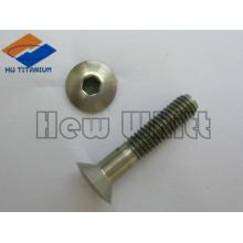 high end tI6AI4V parafuso de cabeça chata de titânio DIN7991