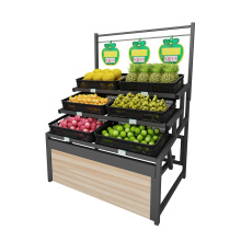 Single Sided Vegetable Display Rack