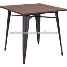Mesa de bar de madeira industrial de madeira alta