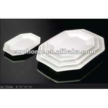 durable white hotel porcelain dinner plate P0498