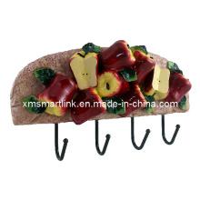 Домашний декор Яблочный крюк для ванной комнаты, настенный крючок из смолы, подвесной крючок