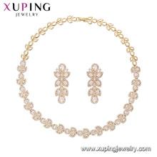 64630 Xuping Modeschmuck Hersteller China 18K Charming Gold Plated Jewelry Set Nachahmung Schmuck