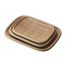 100% меламин посуда/меламин пластины/Сплетенный лист (NK13713-08)