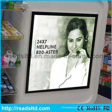 China fábrica novo estilo publicidade LED placa magnética luz Display caixas