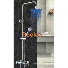 LED Regendusche Mixer Messing Wasserhahn mit Griff Dusche