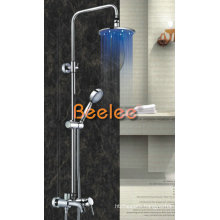 LED Rainfall Shower Mixer Brass Faucet with Handle Shower