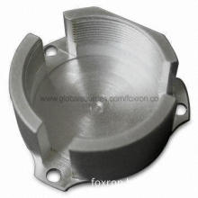 Aluminum CNC Machined Part with Silver Anodized Surface Treatment