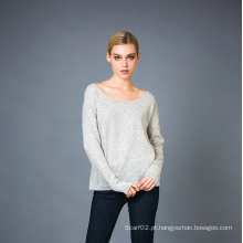 Lady's Fashion Cashmere Blend Sweater 17brpv042