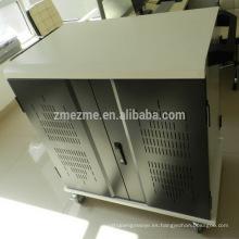 ZMEZME red de carga de acero carrito / gabinete para almacenamiento de la tableta, sincronizar y cargar 30 puertos USB hub para cargar el carro
