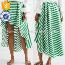 New Fashion Asymmetric Striped Cotton Gauze Summer Daily Skirt DEM/DOM Manufacture Wholesale Fashion Women Apparel (TA5097S)