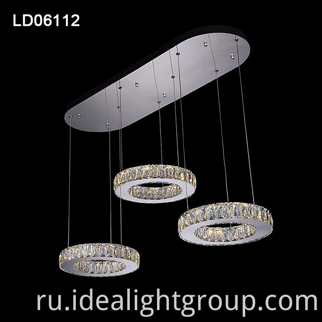 crystal pendant lamp