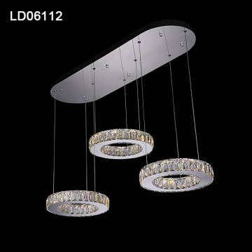 Led lustre en cristal moderne suspension suspendu