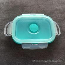 Contenedor de silicona bento sellado caja de almacenamiento
