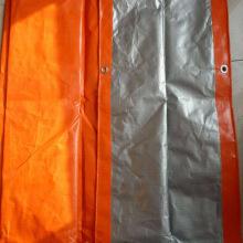 Orange Silver Reflective Tarpaulin Construction Cover