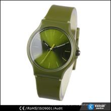 Relógio traseiro de aço inoxidável de quartzo para homens e mulheres