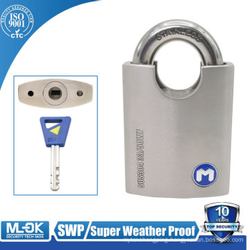 MOK lock W33/50WF Stainless Steel wrapped shackle security cable lock