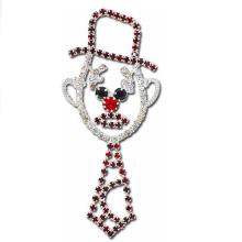 Holiday Snowman esmalte solapa pins insignias con broche para la decoración de Navidad