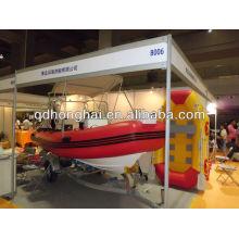 inflable barco de fibra de vidrio nuevo de costilla