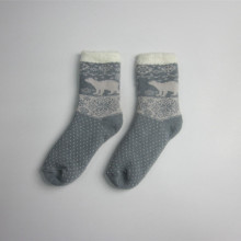 Girls Acrylic Jacquard Socks Wholesale