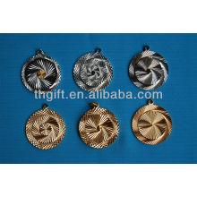 Forme ronde de haute qualité avec chaîne en métal Pièce commémorative sans couleurs