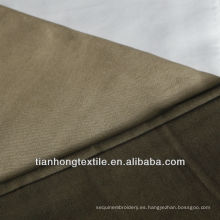 Poly algodón satén Spandex tela teñida