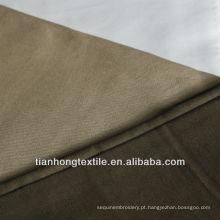 Poli algodão cetim elastano tela tingida